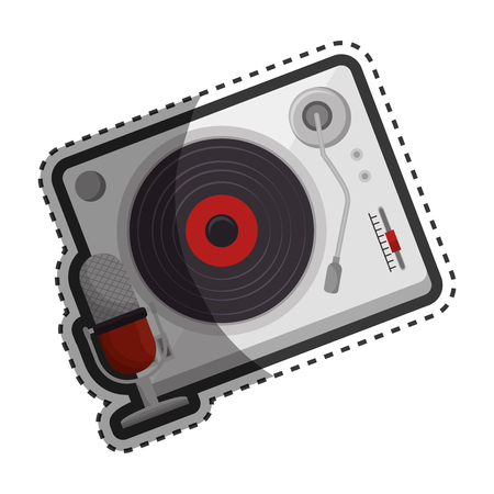 player lp old music vector illustration design Illustration