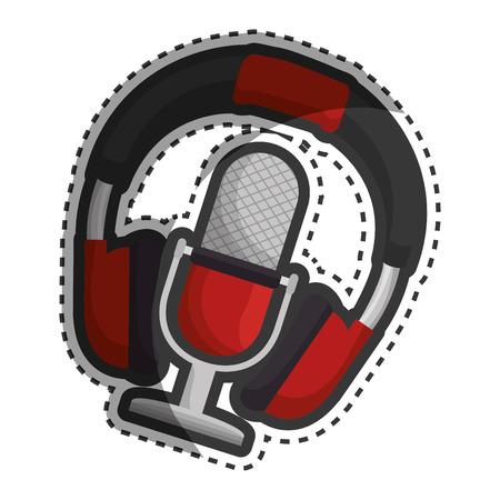headphone music device icon vector illustration design
