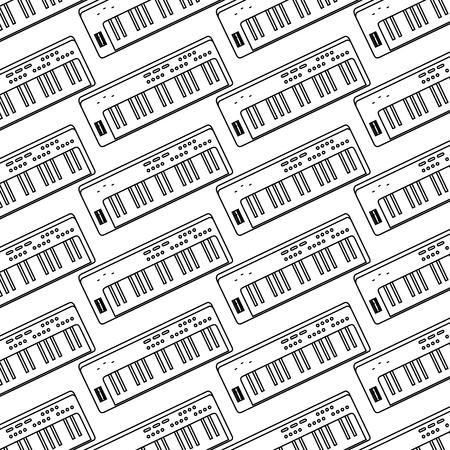 synthesizer audio device icon vector illustration design 向量圖像