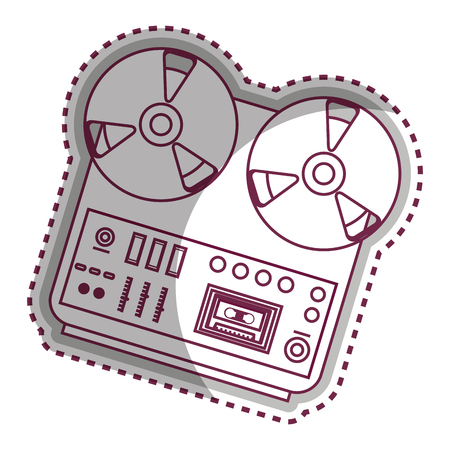 musical recorder console icon vector illustration design Illustration