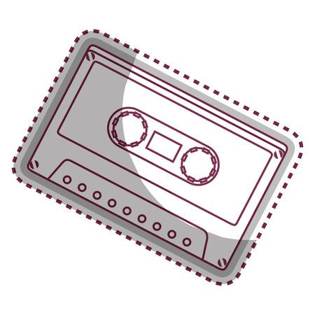 cassette old music icon vector illustration design Illustration