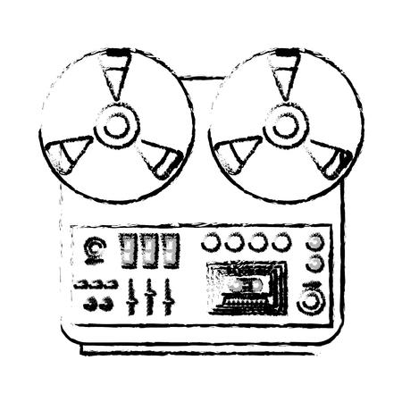 musical recorder console icon vector illustration design Illustration