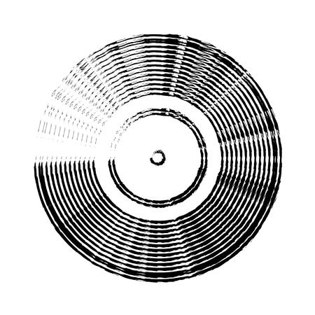 long play disk icon vector illustration design Illustration