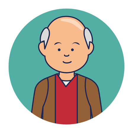 multy: old man ethnicity avatar character vector illustration design