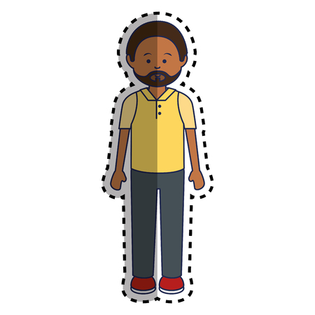 multy: african man ethnicity avatar character vector illustration design