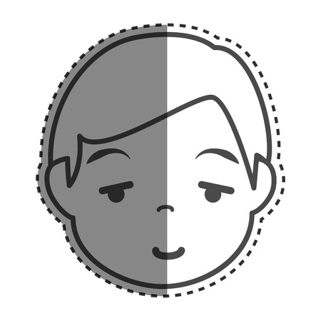 multy: young man ethnicity avatar character vector illustration design