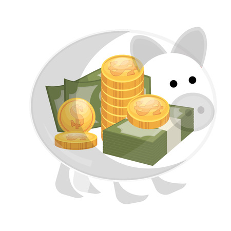 commercial painting: bills and coins icon vector illustration design