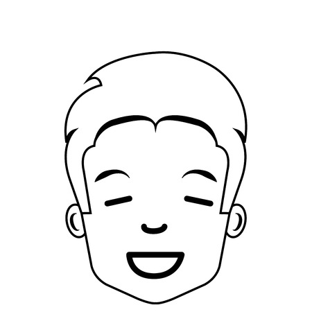 multy: young man avatar character vector illustration design