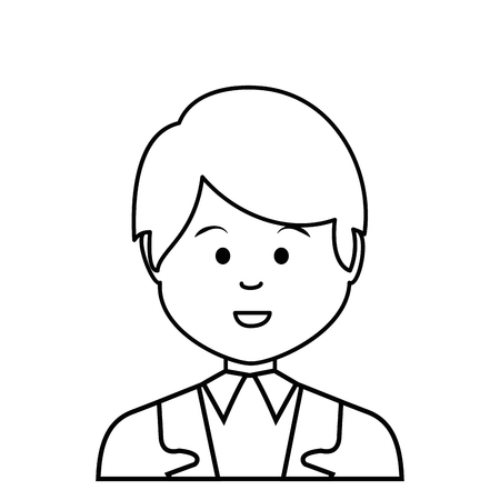 multy: young businessman avatar character vector illustration design