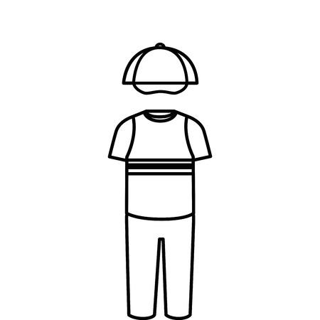 fashion design: Child fashion clothes icon vector illustration design Illustration