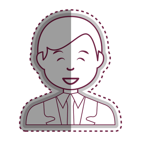 young businessman avatar character vector illustration design