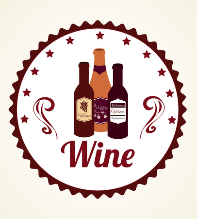 Wine design over white background, vector illustration Illustration