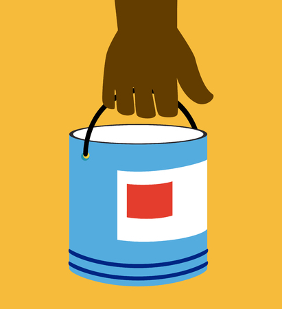 paint can: Construction design over yellow background, vector illustration Illustration