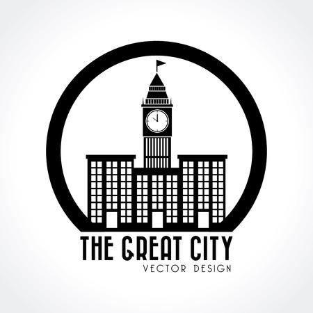 City design over white background, vector illustration