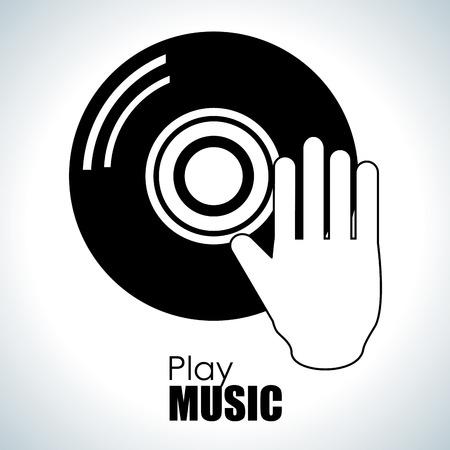 회색 배경, 벡터 일러스트 레이 션을 통해 음악 디자인 스톡 콘텐츠 - 73900002