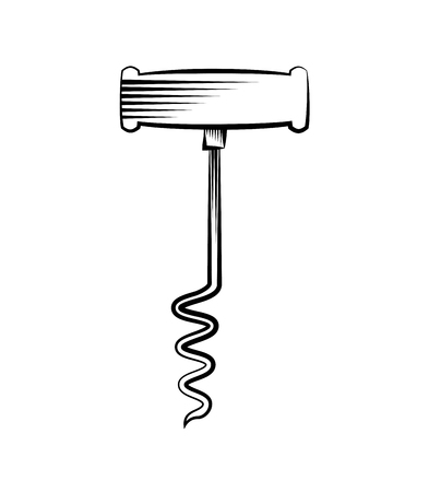 corkscrew icon over white background. vector illustration