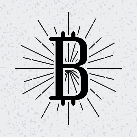 metal net: bitcoin icon over white background. vector illustration