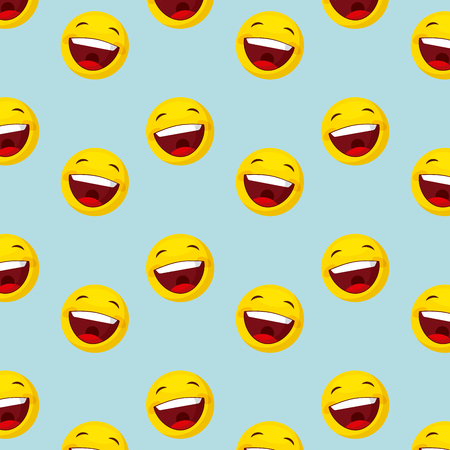 happy faces background. colorful design. vector illustration
