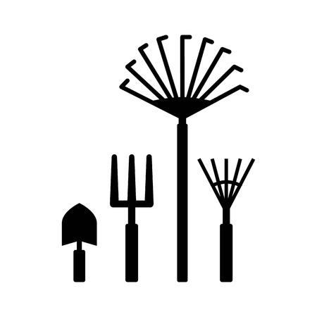 gardening equipment over white background. colorful design. vector illustration