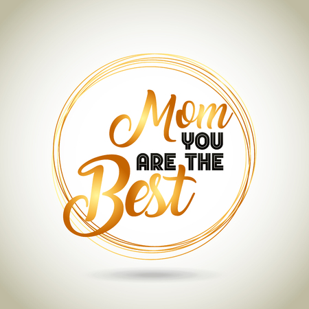 happy mothers day card. colorful design. vector illustration