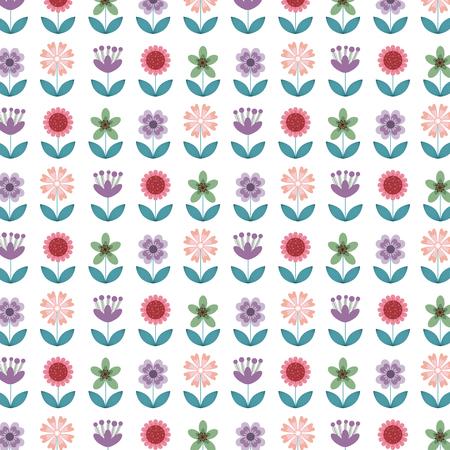 background of beatiful flowers.colorful design. vector illustration Illustration