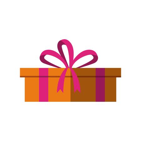 gift box icon over white background. colorful design. vector illustration Illustration