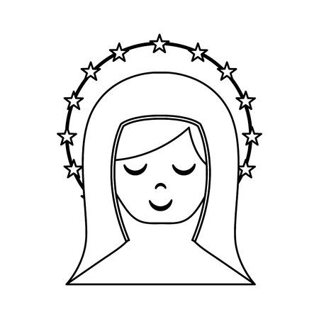 immaculate: cute mary virgin icon vector illustration design