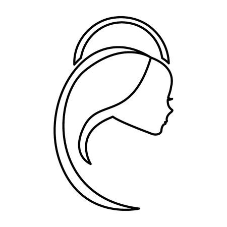 Schattige mary maagd pictogram vector illustratie ontwerp