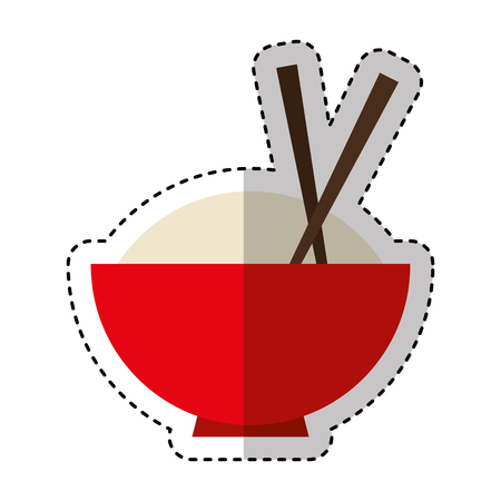 japanese cuisine: chinese rice food icon vector illustration design