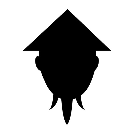 asian man head character vector illustration design