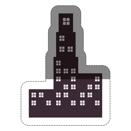 city buildings over white background. vector illustration
