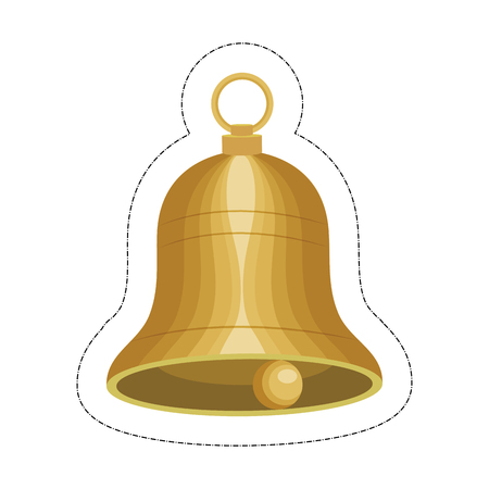 bell musical instrument icon over white background. vector illustration Illustration
