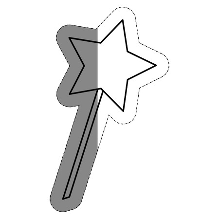 star magic wand icon over white background. vector illustration