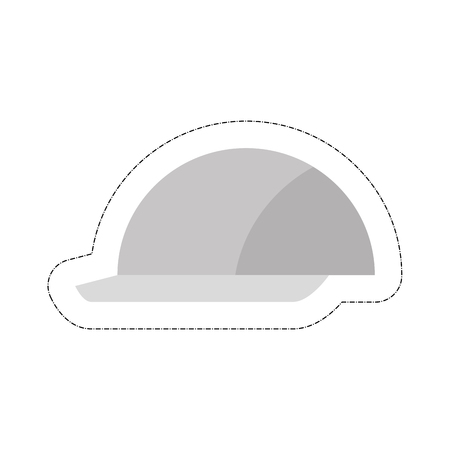 construction helmet icon over white background. vector illustration