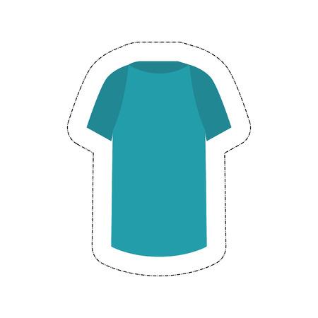 shirt icon over white background. vector illustration