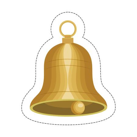 Bell musical instrument icon over white background. vector illustration. Illustration
