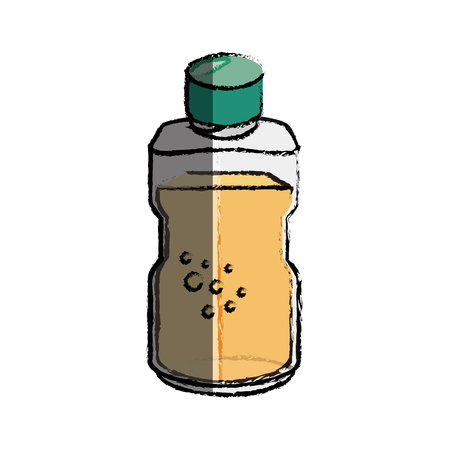 bottle container icon over white background. vector illustration Illustration