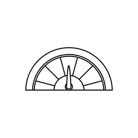 speedmeter: speedmeter icon over white background. vector illustration