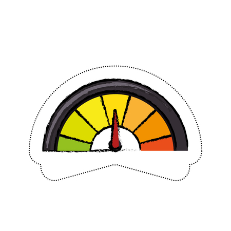 speedmeter icon over white background. vector illustration