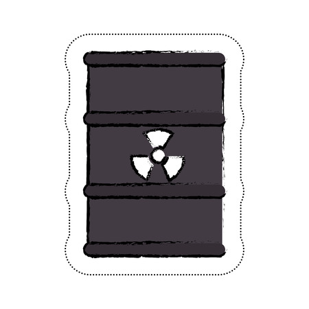 nuclear barrel icon over white background. vector illustration