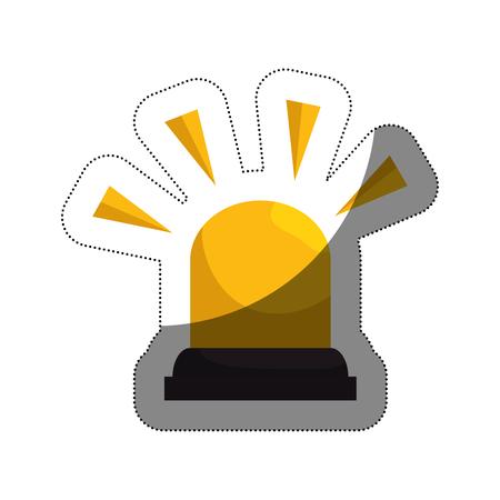 siren alarm isolated icon vector illustration design Illustration