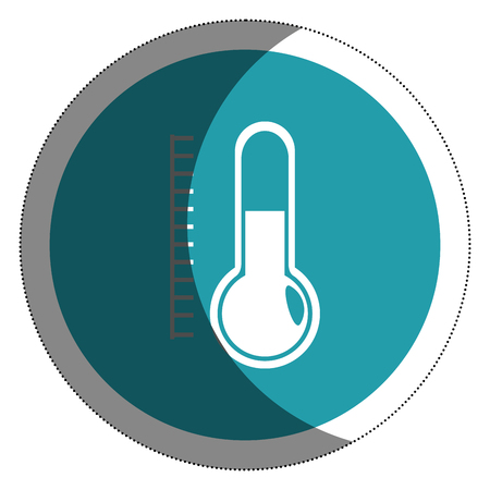 termometer: thermometer temperature isolated icon vector illustration design