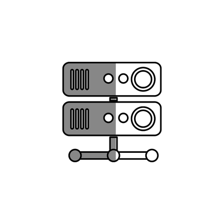 storage device: server sign isolated icon vector illustration design
