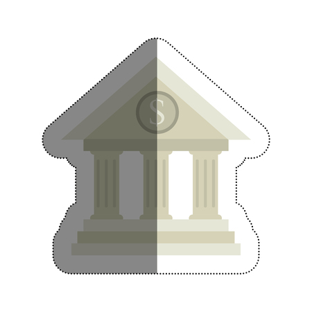 roman pillar: bank building isolated icon vector illustration design Illustration