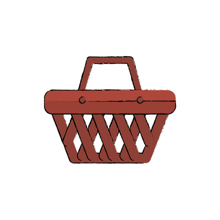 retailer: shopping basket isolated icon vector illustration design Illustration