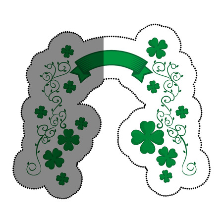 clover saint patrick celebration vector illustration design Stock Vector - 74252315