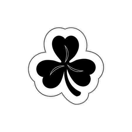 clover saint patrick celebration vector illustration design Stock Vector - 74252341
