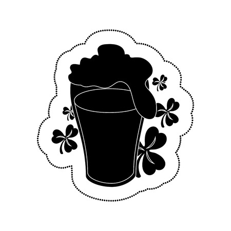 beer green celebrarion icon vector illustration design