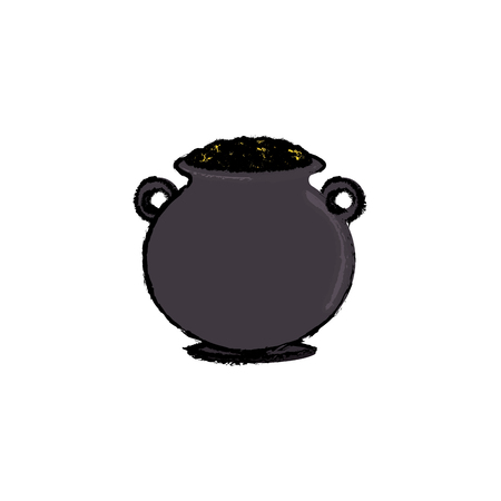 boiler: cauldron with money icon vector illustration design