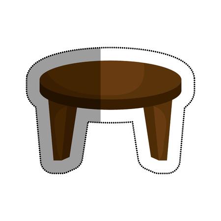 テーブル木製分離アイコン ベクトル イラスト デザイン